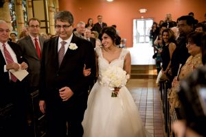 Walking down the aisle at my wedding in 2010.